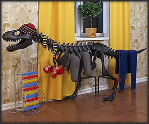 a radiator that looks like the bones of the mighty (except for its arms) T. Rex. Alas it's only a concept, but shut up and take our money already.
