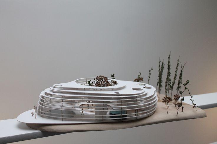 Bath facility in northern Sweden 1:100 model