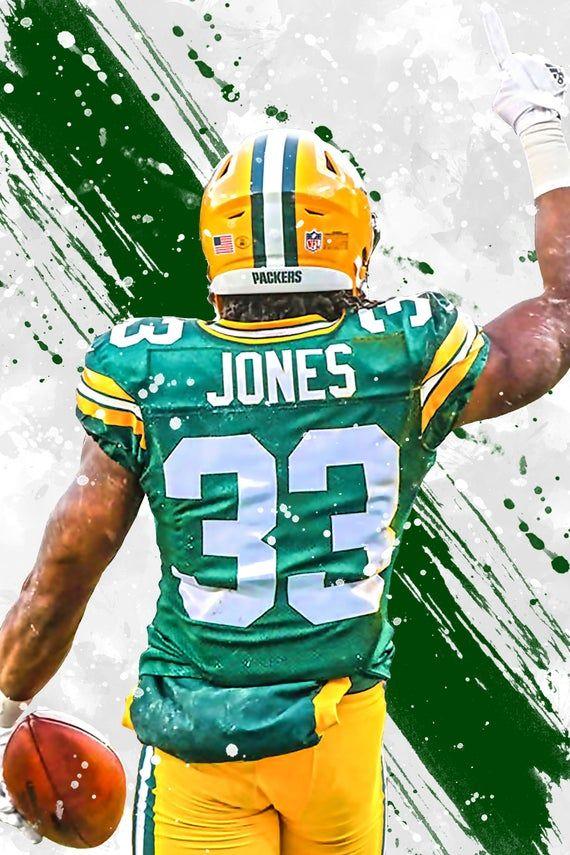 Aaron Jones Green Bay Packers Poster Print Sports Art Etsy In 2020 Green Bay Packers Green Bay Packers Wallpaper Packers