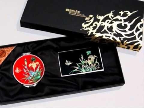 전통 나전칠기 손거울 2종세트 동영상 간담회 기념품,사은회 선물