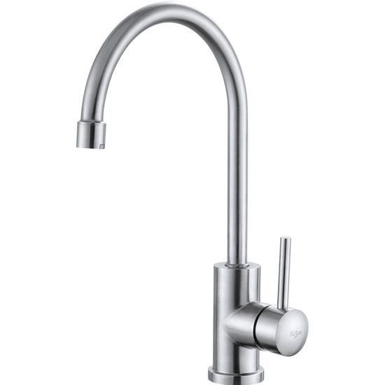 kraus single lever gooseneck kitchen faucet