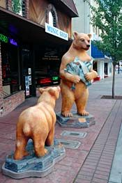 grants pass oregon. they decorate bares every year for donation, they even have a wearhouse full of them called the bare museum.