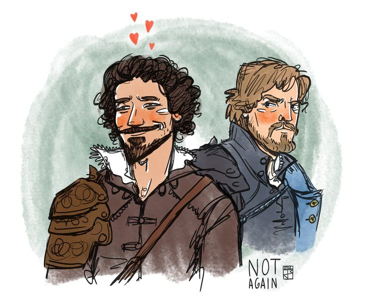 "The Musketeers fan art - Aramis and Athos. ""I cannot believe you slept with the Queen!""- Angry Athos; Season 1 Episode 9"
