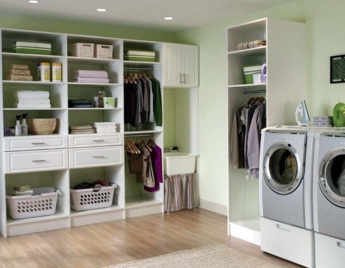 11 creative and clever laundry storage ideas for small - Storage ideas laundry room ...