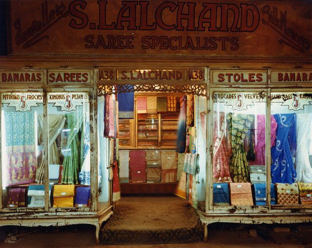 Laura McPhee, Saree Shop, Newmarket, Calcutta, India (1998). Chromogenic print