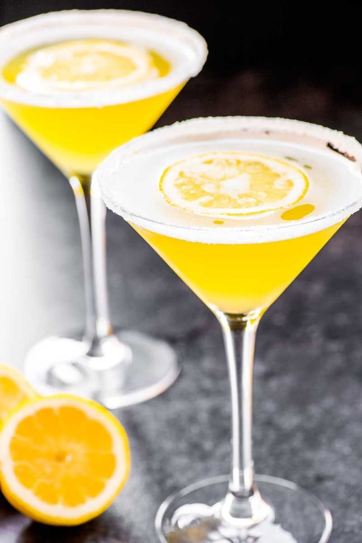 Lemon drop martini a deliciously sweet lemon martini made