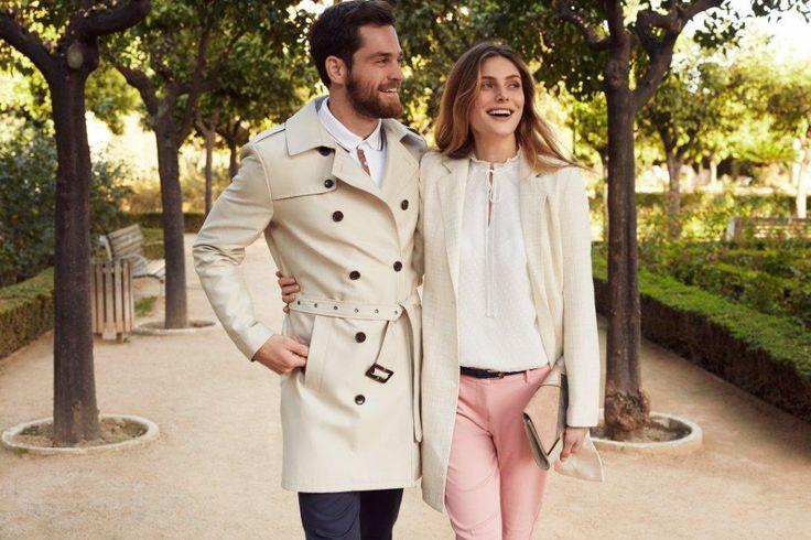Kampania TOP SECRET wiosna 2017 spring 2017 ss17 stylizacja na randkę date outfit pink pants menswear trench trencz prochowiec