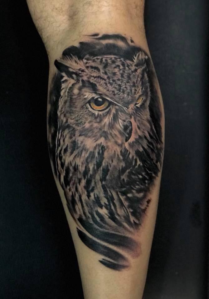 Tatuaje Realista De Buho Para Gemelo Para Citas O Info 682698901 El Pulso Sin Descanso Tatuaje Buho Tatuajes Buhos