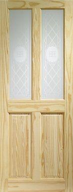 Knotty Pine Victorian Corinthian Internal Door