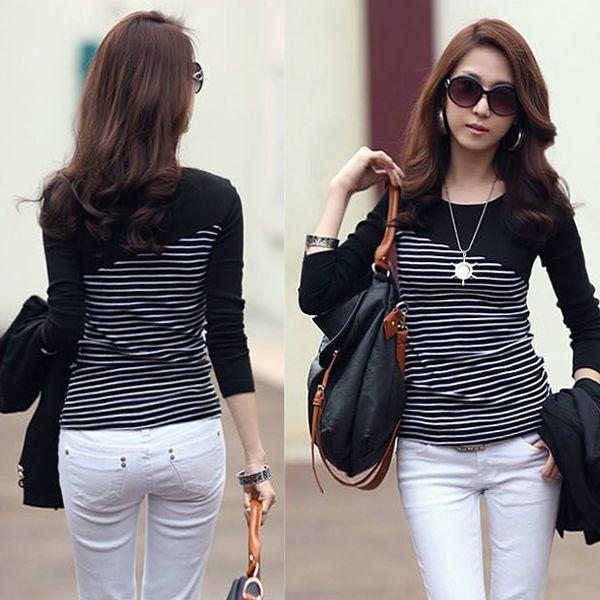 >> Click to Buy << 2017 Striped long sleeve Casual  tee shirt femme camisetas roupa feminina poleras de mujer Full sleeve Camisetas Tops Clothes #Affiliate