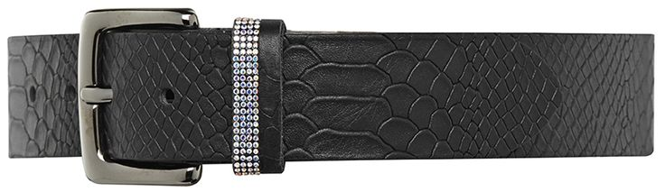 10796 jeans belt, 4 cm, black.