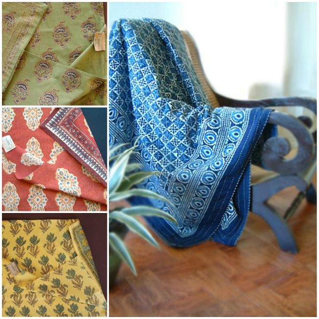 Indian bedspreads: Starry Night