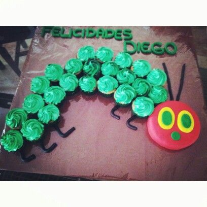 The very hungry caterpillar's cupcakes