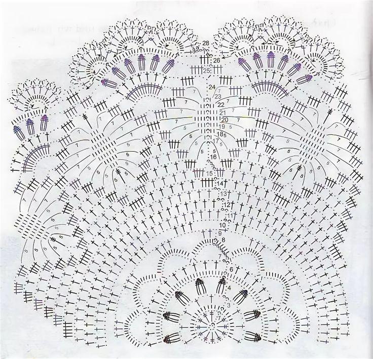 схема салфетки крючком красивые с описанием и фото: 6 тыс ...