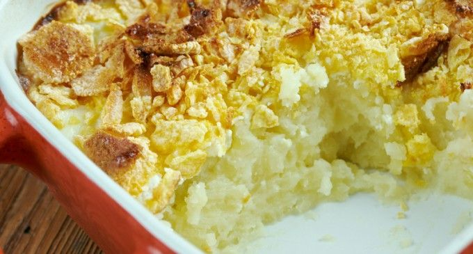 This Cheesy Potato Casserole A.K.A Funeral Potatoes Is Perfect For Any Occasion