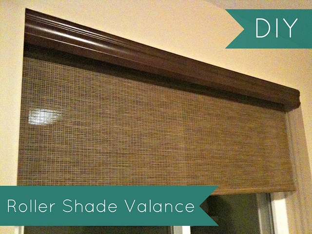 how to make a roller blind with fabric