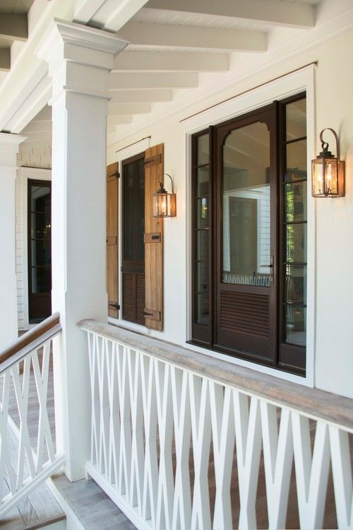 Charleston residence, SC. Phillip W. Smith General Contractor. Door frame detail and porch. Exterior