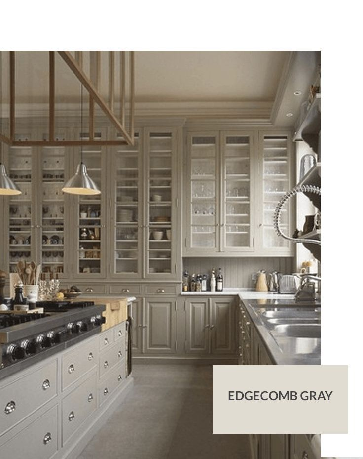 Benjamin Moore Edgecomb Gray Black Kitchen Cabinetsgray