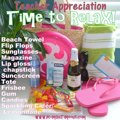 Teacher Appreciation Gift Idea - Time To Relax! - Mom On Timeout