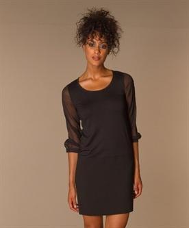 DKNY | Donna Karan New York - DKNY Zijden Mouw Jurk - Zwart