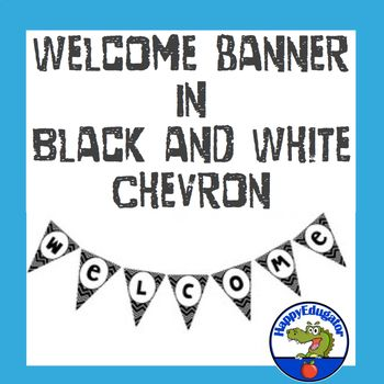 Be Back to School ready! Welcome students back to school on the first day of school with this WELCOME banner in black and white chevron. Includes the letters W-E-L-C-O-M-E-! and an editable one so you can write your own messages in your own fonts. Use this Welcome banner the first week of school to make your black and white classroom decor festive without using lots of color ink.  ©2016 HappyEdugator.