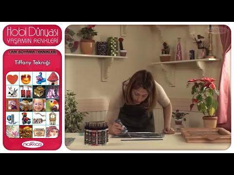 Cam Boyama Teknikleri - Tiffany Tekniği - YouTube
