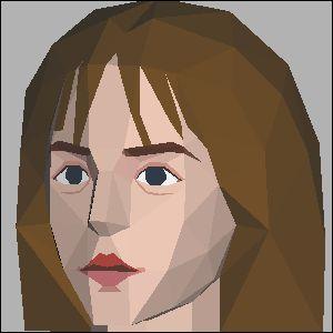 ハーマイオニー・エマワトソンの展開図 似顔絵 無料 ダウンロード ペーパークラフトファン
