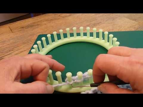 Luie wijven steek / rivier steek breiring loom 2 manieren (drop or elongated stitch) - YouTube