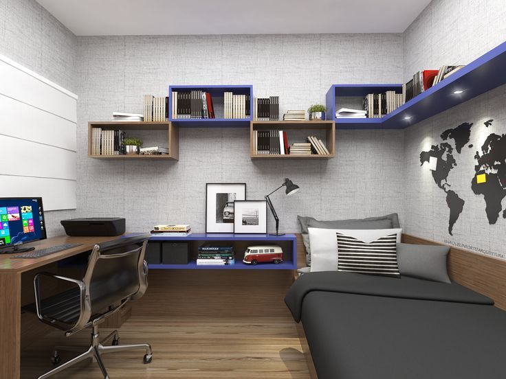 A nice room for a child to study. The comfort of sleep with the ability to study. – – #GamerRoom|DIY
