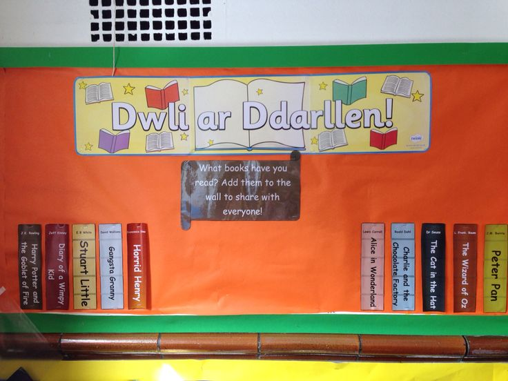 Classroom Corners Ideas ~ Reading corner display with children able to add their