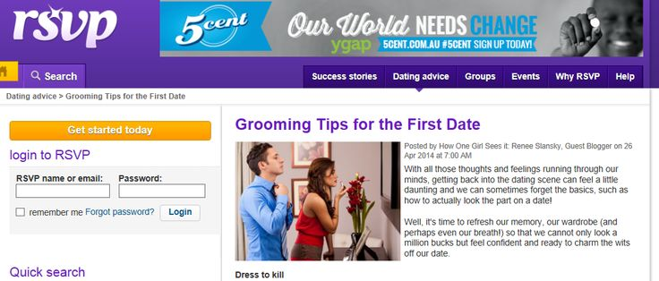 Grooming tips for the first date ( post on RSVP.com) | my blog | Pinterest  | Rsvp