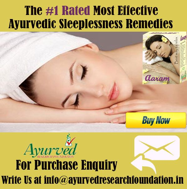 Night sleep is highly important to ensure one's health and when several nights go without sleeping, it should be treated safely to prevent health problems. Aaram capsule are the ayurvedic sleeplessness remedies to prevent insomnia.