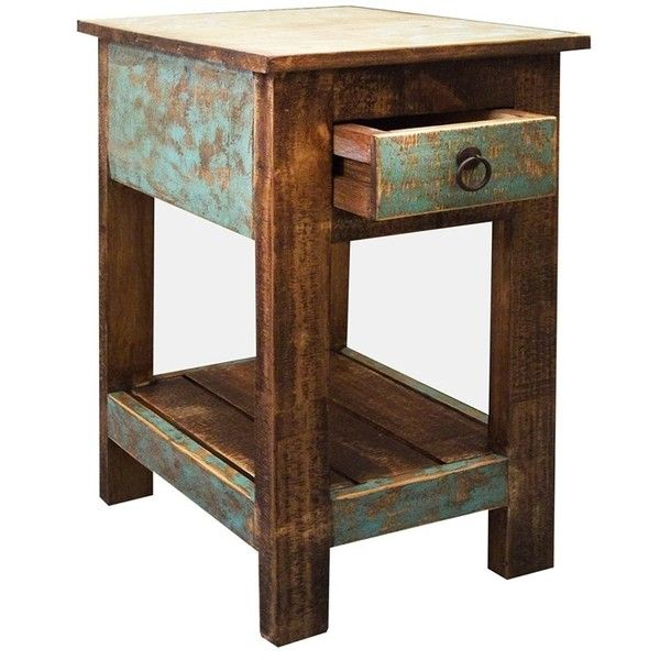 horizon home small rustic side table furniture. Black Bedroom Furniture Sets. Home Design Ideas