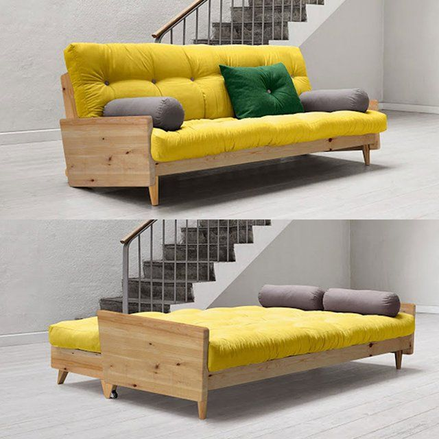 Crafted from solid, but lightweight pinewood and high-quality futon, Indie stands the test of time and can be easily moved around, giving you freedom to reinvent your surroundings as often as you want. Mattress size: 130×190 cm Incl. 1 cushion 40×60 cm with button + 2 bolsters Ø18×50 cm Fabric is made approximately of 70% …