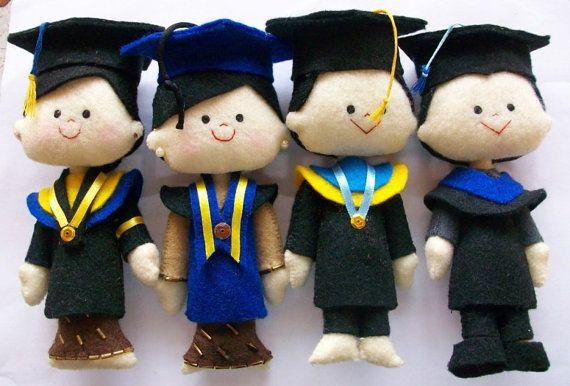 graduation felt doll. i  made this for one of my customer.