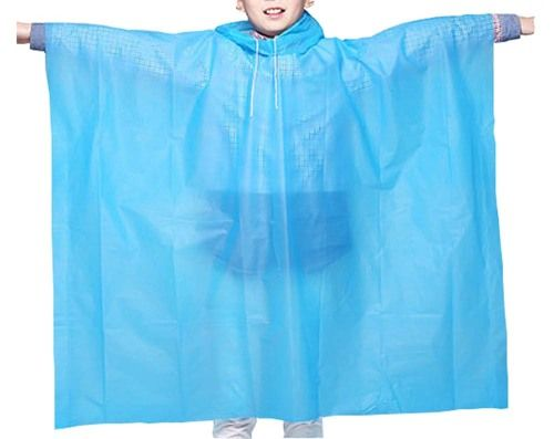 Disposable Rain Ponchos Kids Rain Coats/Set Of 3