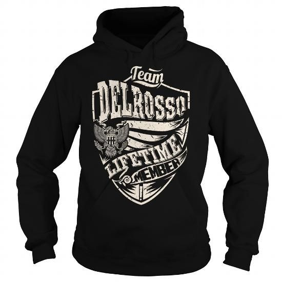 Awesome Tee Last Name, Surname Tshirts - Team DELROSSO Lifetime Member Eagle T shirts
