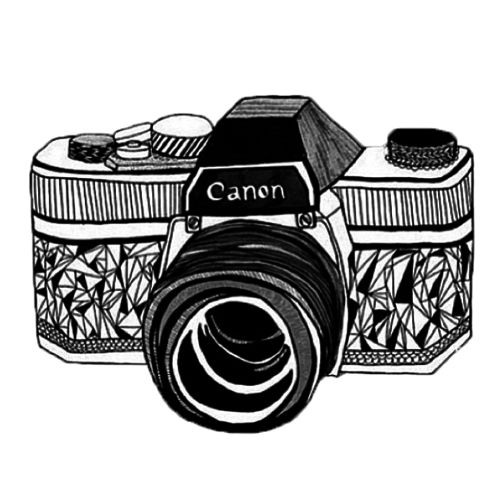 this is a really pretty drawing of a cannon camera