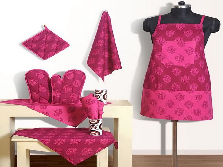 Stylish hot pink kitchen cabinet and accessories
