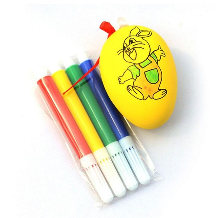 $1.23 - Cool Water Color Pen & Egg Kids DIY Painting Color Egg Toy Easter Egg Education Toys safe non-toxic water M3092 - Buy it Now!