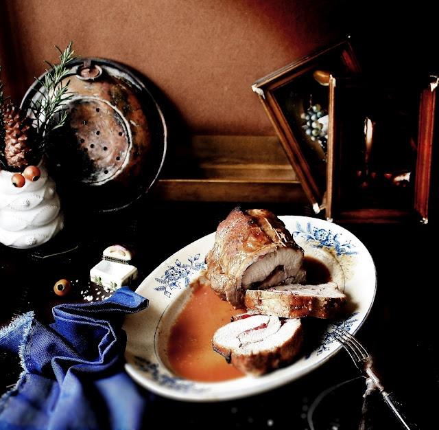 Cranberry Stuffed Pork Roast