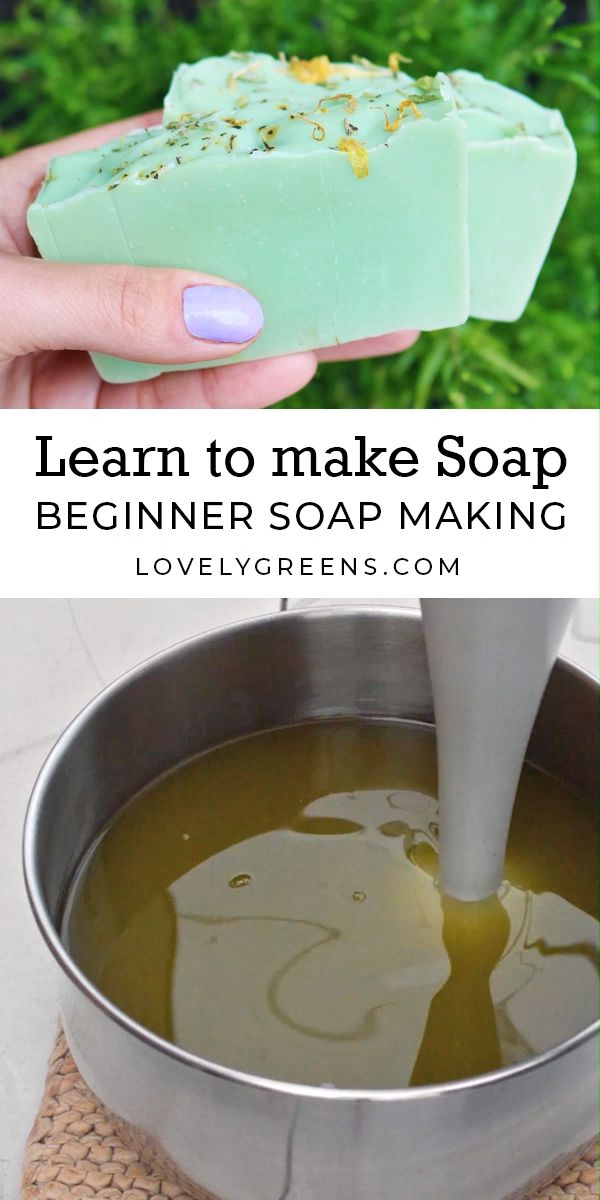 How to make Natural Soap with Lovely Greens — soap making instructions, recipes…