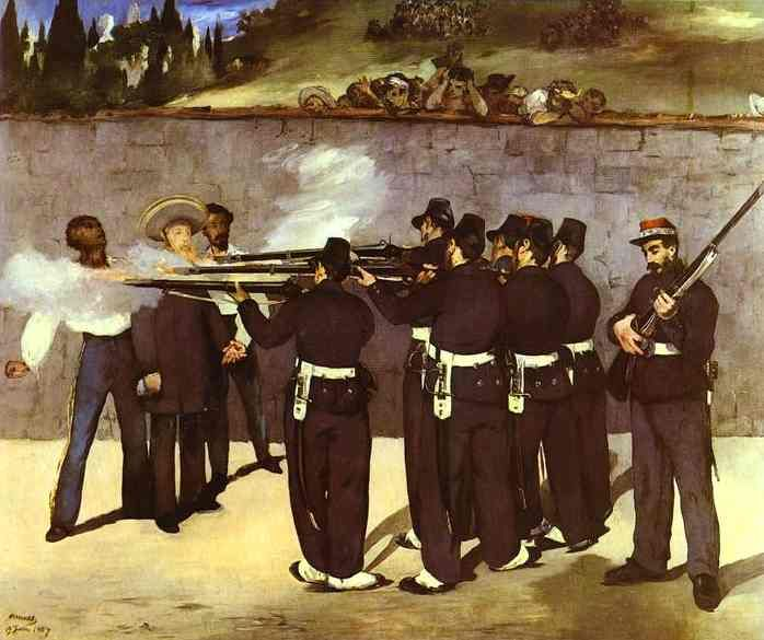 The Execution of the Emperor Maximilian of Mexico - Manet Edouard