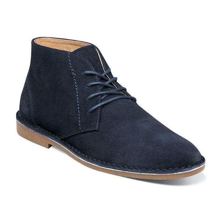 Nunn Bush Galloway Men's Suede Chukka Boots, Size: 10.5 Wide, Blue (Navy)