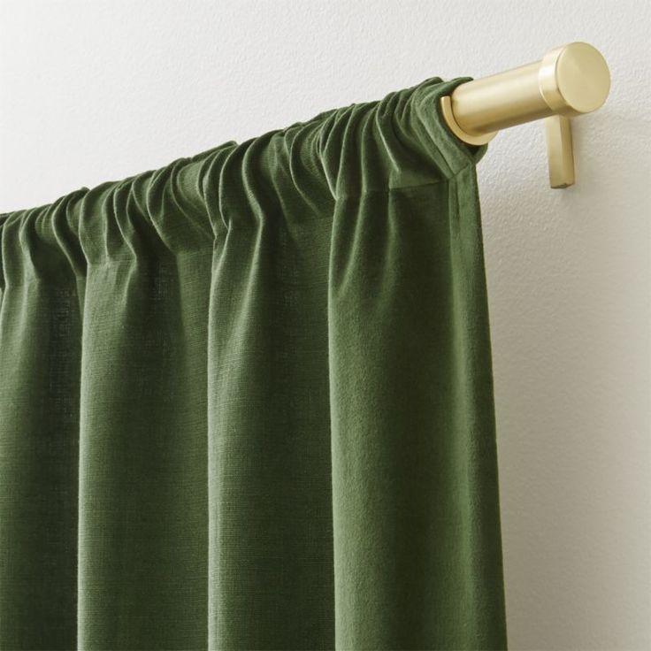 Ezria Green Linen Curtain Panel