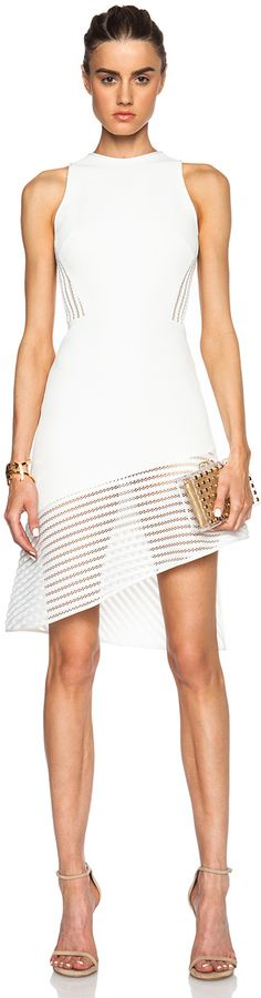 David Koma Structured Back and Hem Sleeveless Dress