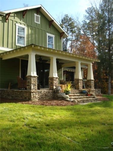 21 best ranch images on pinterest curb appeal for Craftsman tapered columns