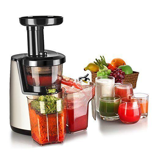 Flexzion Cold Press Juicer Machine - Masticating Juicer Slow Juice Extractor