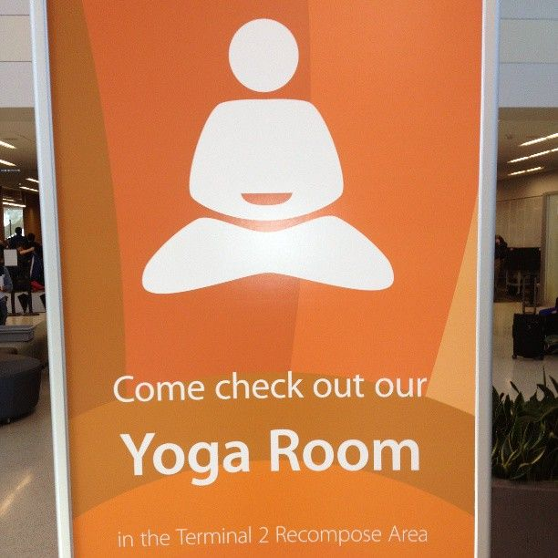 Did you know they have a #yoga room at the San Francisco International Airport? How cool! | Health.com