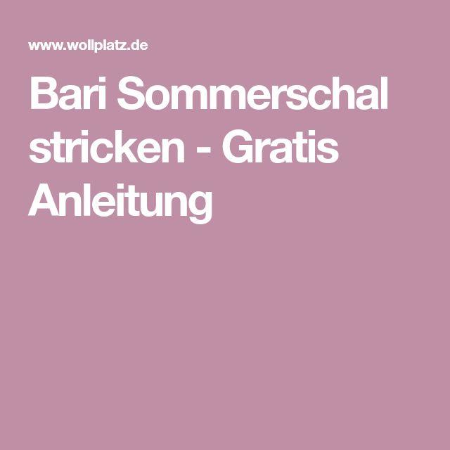 Bari Sommerschal stricken - Gratis Anleitung